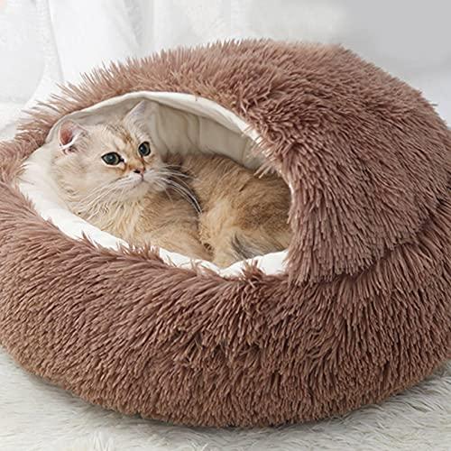 cuccia cane 20 kg Facynde Cuccia Rotonda Scavatrice per Animali Domestici Coperta con Cappuccio per Animali Domestici Casa del Gatto con Cappuccio della Grotta della Peluche Cuscini per Gattini O Cuccioli da Interni