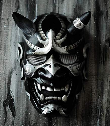 Hannya Kabuki - Máscara de demonio guerrero totalmente utilizable, estilo japonés