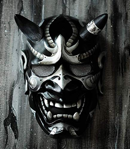 Hannya Kabuki - Máscara de demonio de guerrero y guerrero, decoración totalmente usable, estilo japonés