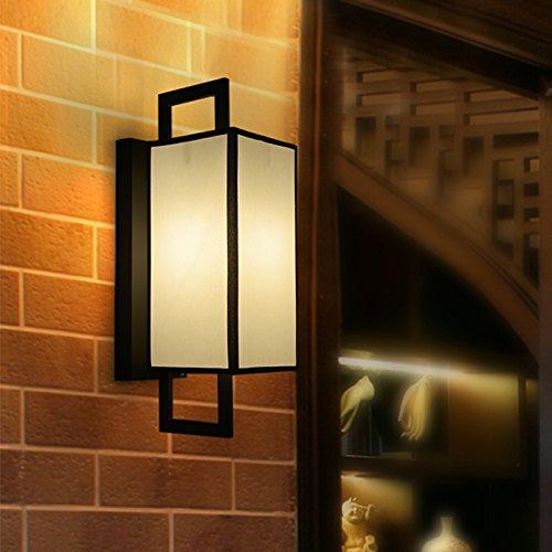VanMe Chinese Wall Lamp Lampe De Chevet Moderne Chambre Villa Allée Murale 15 * 22Cm