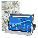 LFDZ Funda Lenovo Tab M10 Plus,Cuero Sintético Rotación de 360 Grados de Función de Soporte para 10.3' Lenovo Tab M10 Plus/Tab M10 Plus 2nd Gen/Smart Tab M10 Plus Tablet,Mapa