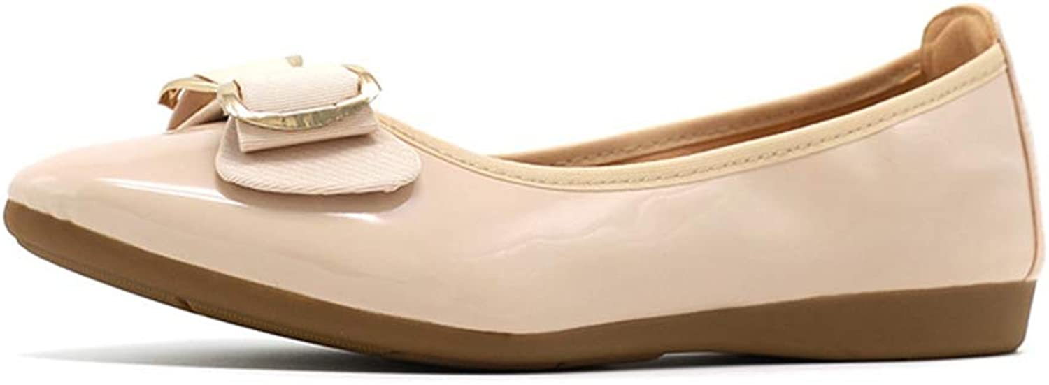 Kyle Walsh Pa Women Bow-Knot Pointed Toe shoes Female Casual Leather Flat shoes