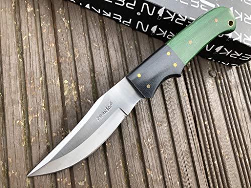 Perkin 5400 Handgemachtes Jagdmesser mit Lederscheide