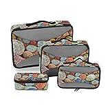 Deziro Hermosas piedras Colorul empacadoras 4 piezas accesorios organizadores de viaje