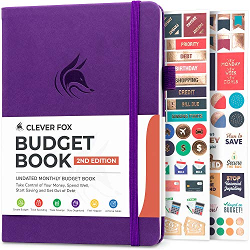 Clever Fox Budget Book 2.0 - Financial Planner Organizer & Expense Tracker Notebook. Money Planner for Monthly Budgeting and Personal Finance. Colored Edition, Compact Size (5.3