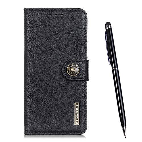 TOUCASA für Xiaomi Mi Mix 3 / Mix 3 5G Hülle, Handyhülle Brieftasche PU Leder Flip [Rindsleder Textur] Hülle Magnetverschluss Handytasche Klapphülle Hülle für Xiaomi Mi Mix 3 / Mix 3 5G (Schwarz)