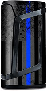 IT'S A SKIN Decal Vinyl Wrap for Smok Alien 220w Mod Stickers Sleeve/Thin Blue line American Flag Distressed