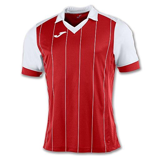 Joma Egge T-Shirt, Herren L Mehrfarbig (Rot/Weiß)