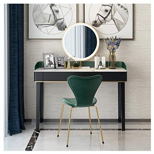 LAA Coiffeuse Femme Table de Maquillage avec Tabouret et Miroir en Bois MDF for Chambre ou Dressing Coiffeuse Table de Maquillage (Color : Green, Size : 85x35x75cm)