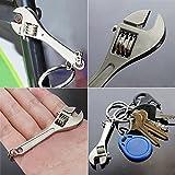 Azoraten Rollgabelschlüssel Mini Schlüsselanhänger Schlüsselanhänger Gadget Verstellbare Hand Basteln Werkzeug