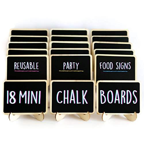18 Mini Chalkboard Signs for Foo...