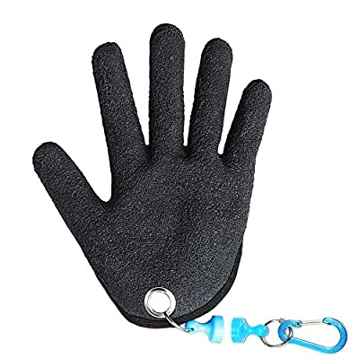Deewin Fishing Glove with Magnets Fisherman Professional Catch Fish Glove Prevent Cutting and Piercing PE Dip Rubber Goves The Best Cholce for Anglers?Left Hand?