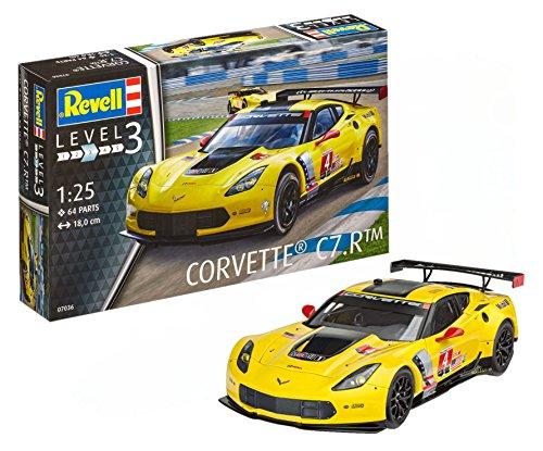 Revell Modellbausatz Auto 1:25 - Corvette C7.R im Maßstab 1:25, Level 3, originalgetreue Nachbildung mit vielen Details, 07036