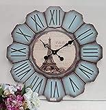 Longxs Creativa Personalidad del Reloj Simple Dormitorio de Moda salón decoración Retro Que cuelga Alrededor de Reloj de Madera