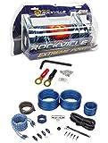 Rockville RXC4D 4 Farad/12 Volt Digital Power Capacitor+RWK41 4 AWG Amp Wire Kit