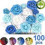 Lot 100 Roses artificielles pour décoration salle de mariage . voiture . maison. Kit...