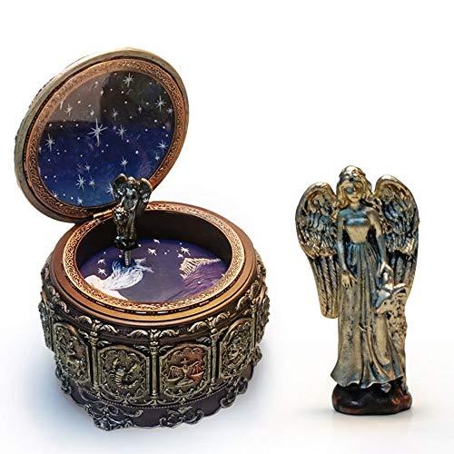 FAGavin Adornos Doce Constelaciones Aries Caja de Música Colorida Iluminación Resina Artesanías Creativas Novedades Regalos de Cumpleaños Regalo de Mús