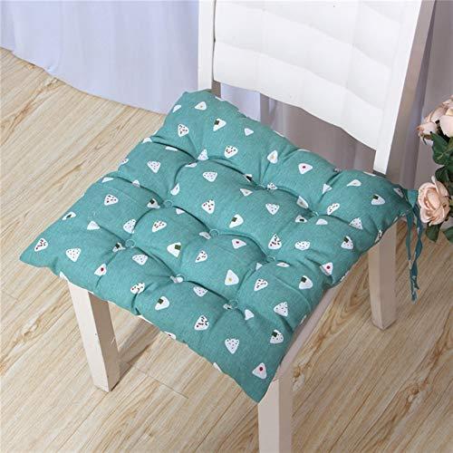 SJHQ Sitzpolster Büro Cotton Sitzkissen Breath Startseite Stuhlkissen Küche Zimmer Autositzpolster Stuhlkissen (Color : Glutinous Rice Green)
