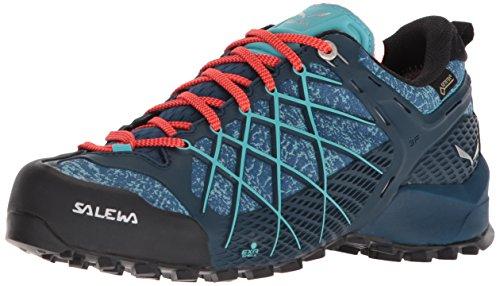 Salewa WS Wildfire Gore-TEX, Zapatos de Senderismo Mujer, Azul (Poseidon/Capri), 40 EU