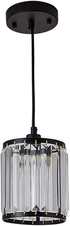 Kristall Pendelleuchte Schatten, handgemachte einfache transparente Glas verstellbarer Kronleuchter, bündig Kristall Kronleuchter, einfache und elegante Kristall Licht für Schlafzimmer, Wohnzimmer