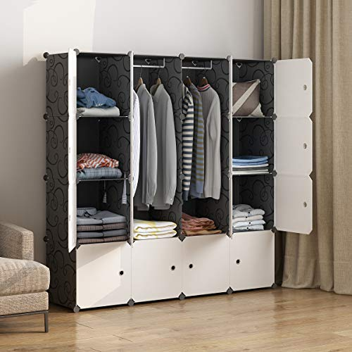 MAGINELS Portable Wardrobe Closets 14'x18' Depth Cube Storage, Bedroom Armoire, Storage Organizer...