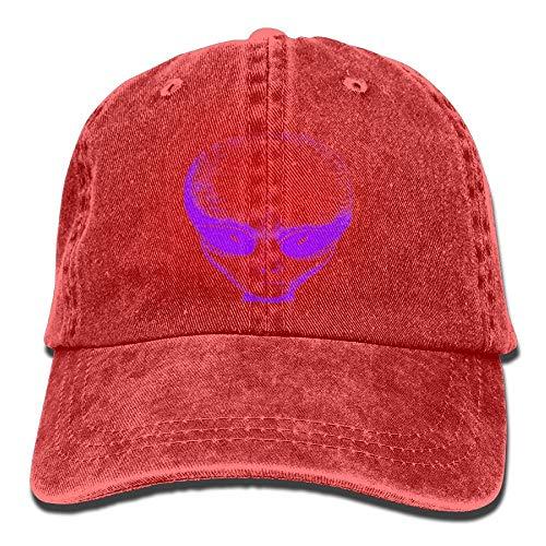 Preisvergleich Produktbild Purple Alien Denim Hat Adjustable Male Low Baseball Cap