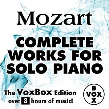 Mozart: Complete Works for Solo Piano (The VoxBox Edition)