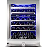 【2020 Upgrade】 BODEGA 24 Inch Wine Cooler,Hold Large Bottle,56 Bottles Dual Zone Built-In Wine...