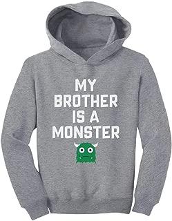 Tstars My Brother is a Monster Funny Siblings Halloween Toddler Hoodie
