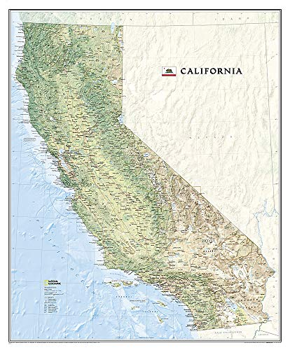 National Geographic: California Wall Map - Laminated (33.5 x 40.5 inches) (National Geographic Reference Map)