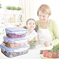 箱弁当食品準備や食事の計画のための大人と子供のための保存容器に行くランチ3漏れ防止弁当箱、食品のボックスセット、理想