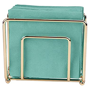 Mind Reader Napkin Holder For Tabletop, Parties, and Countertop, Square, Copper