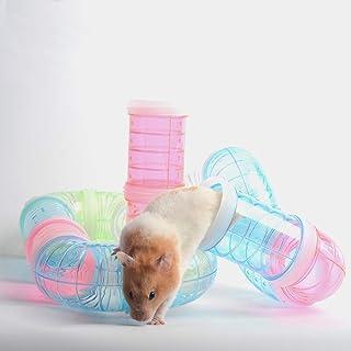 Gifty 8個 パイプ セット ハムスター トンネル おもちゃ 飼育ケージ ゲージ ケース チューブ ジョイント 接続 遊び場