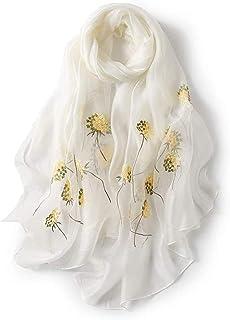 アンミダ(ANMIDA)シルク ストール 紫外線防止 スカーフ シルク 大判 ストール 刺繍 レディース 春夏 上品