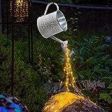 PHOOW antorcha para jardín Riego Can Lámpara Solar Riego Can Luces Decoración de jardín LED Strands Art Craft Statues con Soporte (Color : White, Size : A)