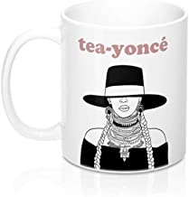 "CrossLove - Beyonce""TeaYonce"" Mug - Bey Hive, Bey Merch, Lemonade, Bey Fan -11oz Ceramic Coffee Novelty Mug/Tea Cup, High ..."