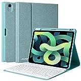 AMZCASE Funda con Teclado para iPad 10,9 2020, Teclado Bluet