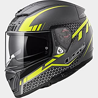 LS2 Helmets - FF390 Breaker - Split - Matt Titanium Yellow - Dual Visor Full Face Helmet - (Large - 580 MM)