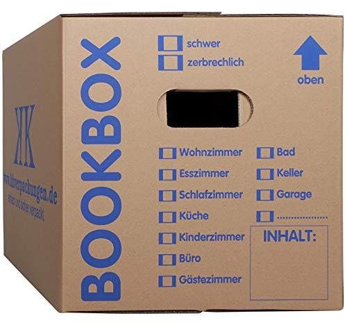 10 Bücherkartons 2 wellig in Profi Qualität Bookbox