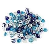 Stanbroil - Juego de braseros y chimeneas de cristal (4,6 kg, mezcla de diamantes), color azul cobalto