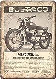 Mercurio Motorcycle Garage Vintage Placa Vintage Metal Cartel de Chapa Cartel Póster de Pared Decorativas Hojalata Signo para Café Bar Película Regalo Boda Cumpleaños