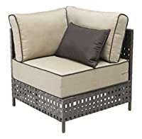 Modern Outdoor Wicker Corner Chair