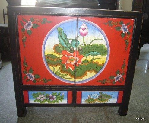 Antike chinesische Kommode China Tibet Chinasidebord Schrank Asiamöbel Chinakommode Chinaschrank Breite89cm
