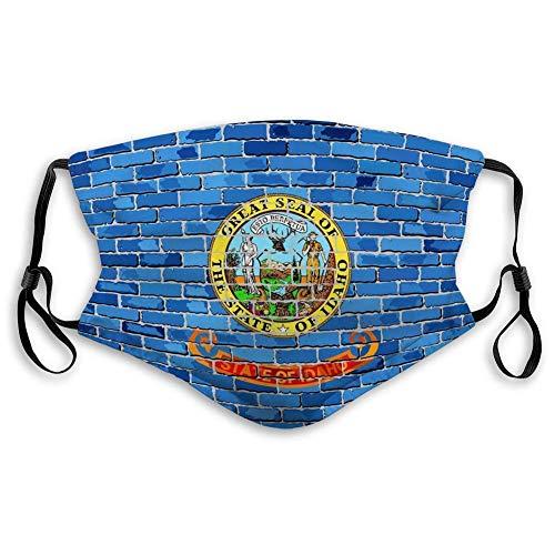 Cooky97 Halbe Flagge Idaho Backsteinmauer Flagge Idaho Backsteinmauer Flagge Hälfte