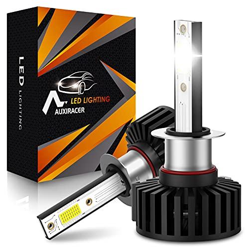 AUXIRACER Ampoule H1 LED, 60W 12000LM 6500K Blanc Phares pour Voiture et Moto IP65 Étanche Extrêmement Lumineuses, Ampoules Auto de Rechange Pour Lampes Halogènes et Kit Xénon (2 Pièces)