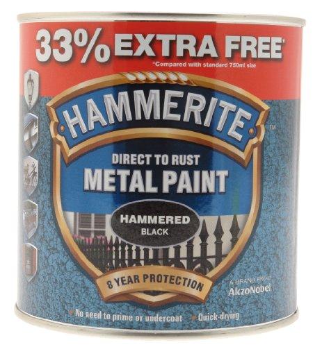 HAMMERITE 5158237Metalllack, schwarz, 750 ml