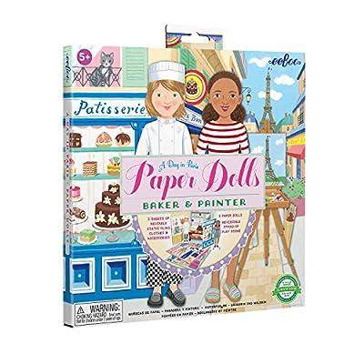 eeBoo's Baker and Painter Paper Dolls Reusable Set for Kids from eeBoo