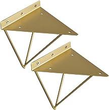 Plankdragers 2 stuks, zware belasting, metalen plankdragers, driehoek plankdrager, wandplank, plankdrager, met schroeven e...