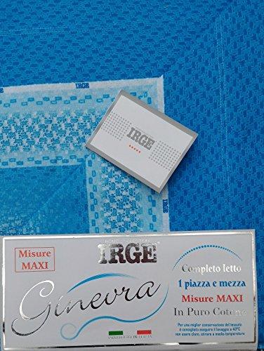 Irge Completo Letto Piazza e Mezza Lenzuola Cotone 100% MOD.716