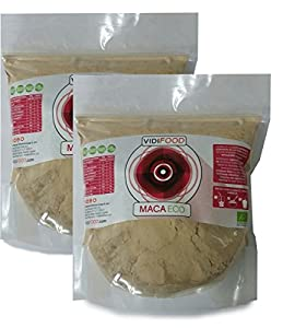 Maca ECO en Polvo - 2kg - Fuente de Aminoácidos, Fibra y Vitaminas - Alta calidad - 100% Natural - Superalimento Saludable para Musculación y Recuperación, Aumenta la Energía y niveles Hormonales.